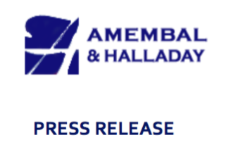 Amembal & Halladay Press Release